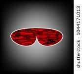 glasses icon. vector. icon with ...   Shutterstock .eps vector #1044171013