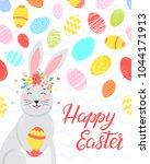 easter typography.happy easter  ... | Shutterstock .eps vector #1044171913