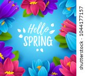 colorful spring background with ... | Shutterstock .eps vector #1044177157