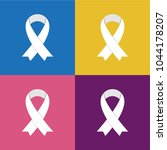 white awareness ribbons on... | Shutterstock .eps vector #1044178207
