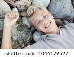 portrait of teenager young man... | Shutterstock . vector #1044179527