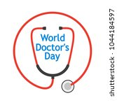 world doctor's day  logo with...   Shutterstock .eps vector #1044184597