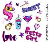 set of comics elements  3d...   Shutterstock .eps vector #1044186337