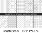collection of seamless... | Shutterstock .eps vector #1044198673