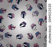 vector illustration. cupcakes... | Shutterstock .eps vector #1044213133