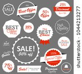 set of sale tags  labels and... | Shutterstock .eps vector #1044213277