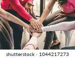 group of diverse women put...   Shutterstock . vector #1044217273