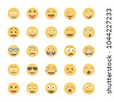 smiley flat icons set 1 | Shutterstock .eps vector #1044227233