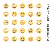 smiley flat icons set 11 | Shutterstock .eps vector #1044227527