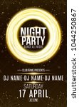 poster for night dance party.... | Shutterstock .eps vector #1044250867