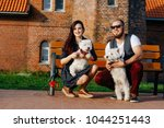a loving couple has a good time ... | Shutterstock . vector #1044251443