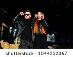 stylish glamorous couple in... | Shutterstock . vector #1044252367