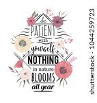 typography poster with flowers... | Shutterstock .eps vector #1044259723