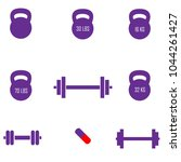 gym set icons. | Shutterstock .eps vector #1044261427