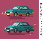 car. flat design. | Shutterstock .eps vector #1044263203