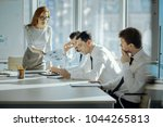 unsatisfied with performance.... | Shutterstock . vector #1044265813