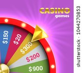 wheel of fortune roulette for... | Shutterstock .eps vector #1044270853
