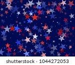 usa president day stars flying... | Shutterstock .eps vector #1044272053