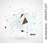 abstract triangle shapes.... | Shutterstock .eps vector #1044291157