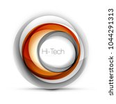 digital techno sphere web... | Shutterstock .eps vector #1044291313