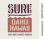 surfing artwork. surfing hawaii ... | Shutterstock .eps vector #1044291667