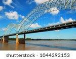 the desoto bridge spans the... | Shutterstock . vector #1044292153