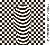 optical illusion  black and...   Shutterstock .eps vector #1044295873