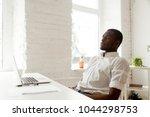 african american man relaxing... | Shutterstock . vector #1044298753