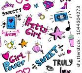 abstract seamless girlish...   Shutterstock .eps vector #1044304273