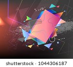abstract vector shapes.... | Shutterstock .eps vector #1044306187