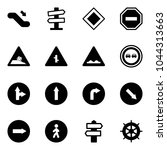 solid vector icon set  ... | Shutterstock .eps vector #1044313663