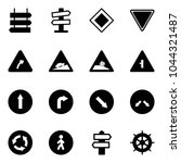 solid vector icon set   sign... | Shutterstock .eps vector #1044321487