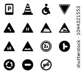 solid vector icon set   parking ... | Shutterstock .eps vector #1044321553