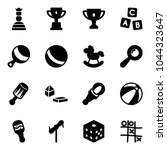 solid vector icon set   chess... | Shutterstock .eps vector #1044323647