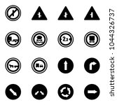 solid vector icon set   no... | Shutterstock .eps vector #1044326737