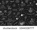 old school tattoos seamles...   Shutterstock .eps vector #1044328777