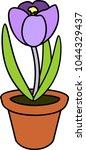 purple crocus flower in... | Shutterstock .eps vector #1044329437