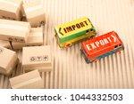 import export on delivery van.... | Shutterstock . vector #1044332503