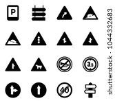 solid vector icon set   parking ... | Shutterstock .eps vector #1044332683