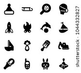 solid vector icon set  ... | Shutterstock .eps vector #1044332827
