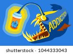 angler fish using pills in a... | Shutterstock .eps vector #1044333043
