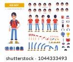 kid boy character constructor... | Shutterstock .eps vector #1044333493