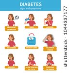 diabetes sign and symptoms... | Shutterstock .eps vector #1044337177