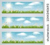 spring banners vector templates ... | Shutterstock .eps vector #1044340693