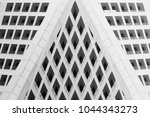 abstract modern architecture... | Shutterstock . vector #1044343273