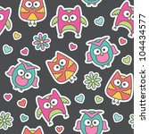 seamless pattern of cartoon... | Shutterstock .eps vector #104434577