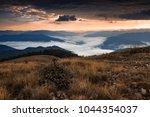 great mountains scene  autumn...   Shutterstock . vector #1044354037