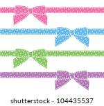 set of cartoon bows  scrapbook... | Shutterstock . vector #104435537