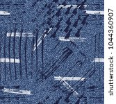 vector denim background with... | Shutterstock .eps vector #1044360907