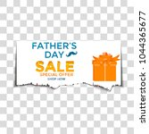 happy father's day sale. vector ... | Shutterstock .eps vector #1044365677